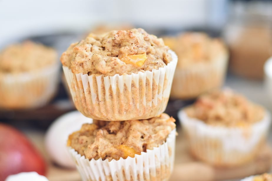 Muffin mangue, All Bran, fromage cottage et noix de cajou - Mango, cashew and cottage cheese muffins | www.cuisinedopamine.com